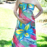 Strapless Maxi Maternity Dress