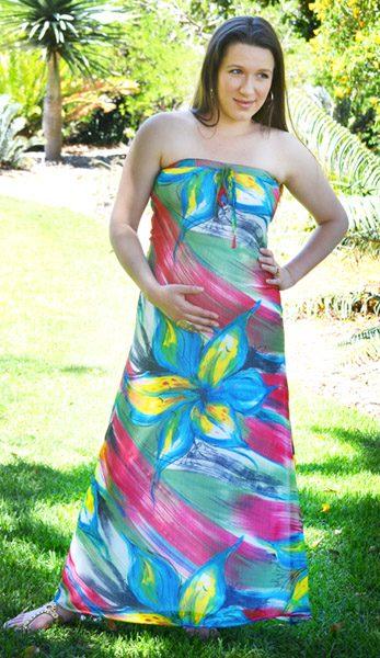 Strapless Maxi Maternity Dress