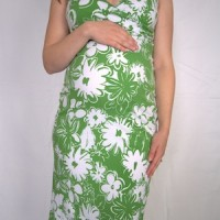 Cross Over Maternity Dress