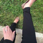 Black Cuffed maternity pant