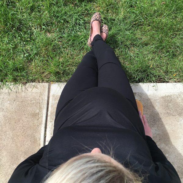 Cuffed Maternity Pant Black