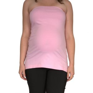 Strapless Maternity Top Pink