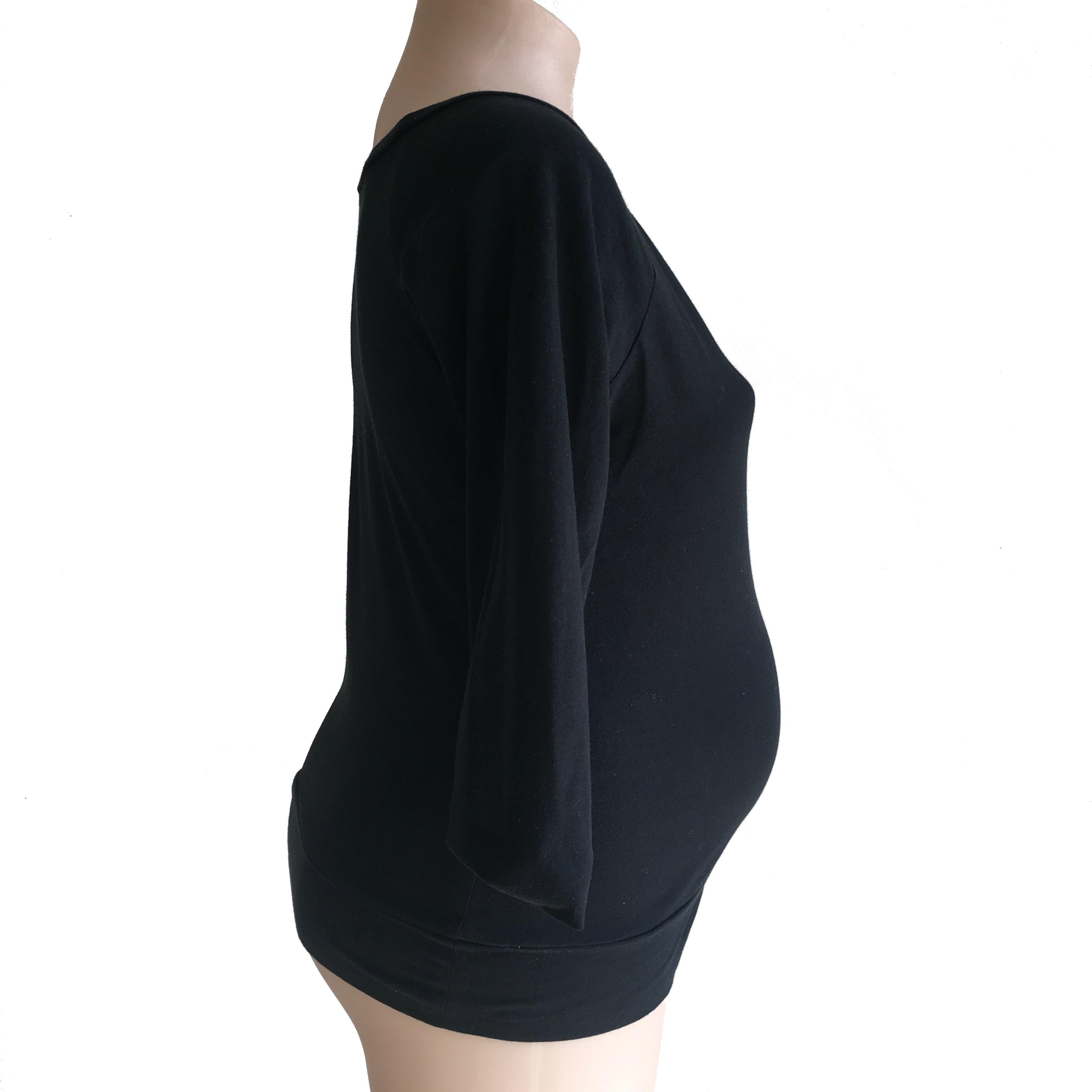 Raglan Maternity Top in Black